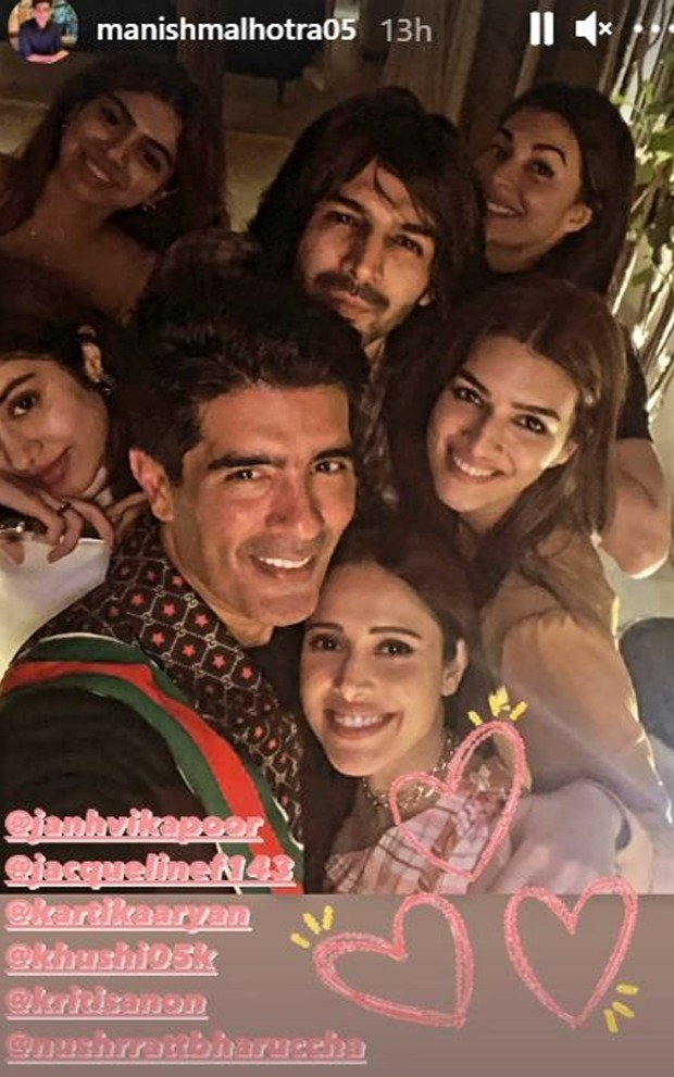 Nushrratt Bharuccha looks as radiant as ever as she shares pictures from Manish Malhotra's New Year party