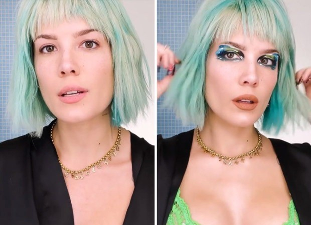 Halsey creates multi-colour funky eye look and gives step-by-step tutorial on how to ace the glam quotient, watch video