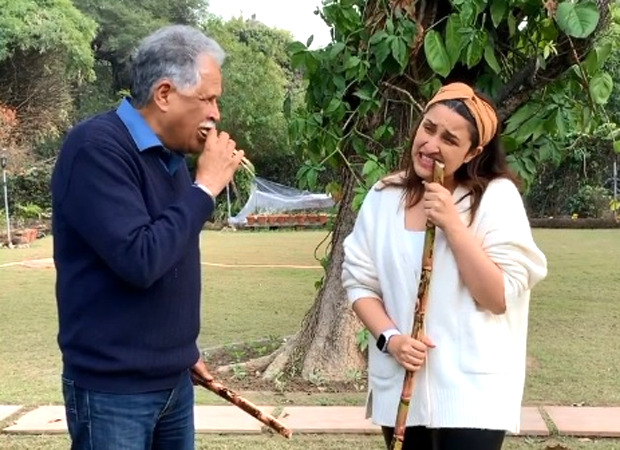 Parineeti Chopra learns how to eat sugarcane from her father in this video