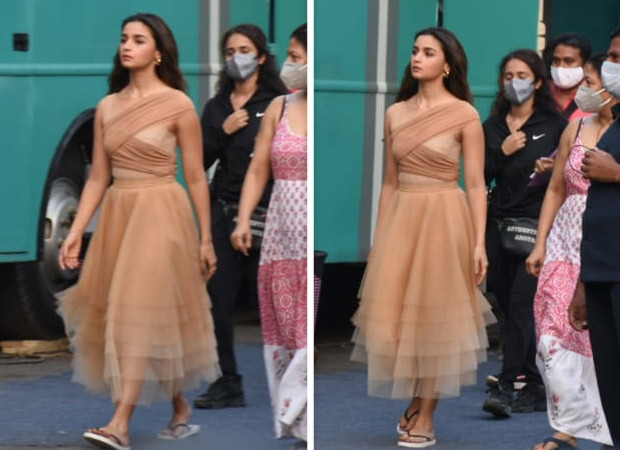 Alia Bhatt makes a starry appearance in a nude bandage dress for an ad shoot