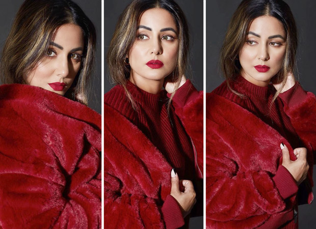 Hina Khan welcomes the month of love with red velvet outfit