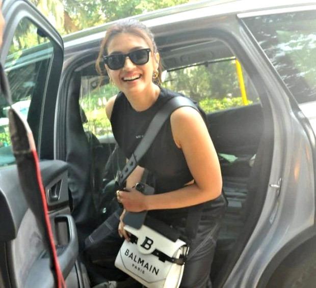 Kriti Sanon keeps it casual in crop top and cargo pants, carries Balmain Paris bag worth Rs. 1.5 lakhs
