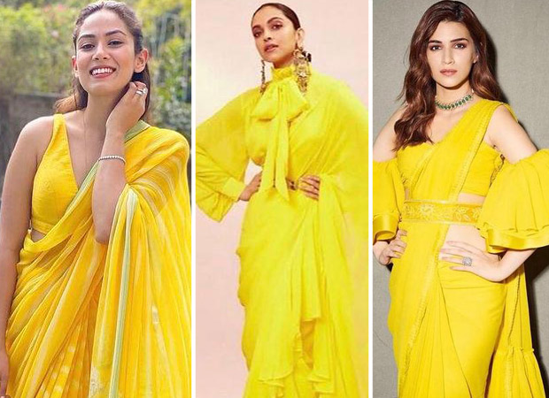 Mira Rajput, Deepika Padukone or Kriti Sanon - who shined bright in yellow saree?