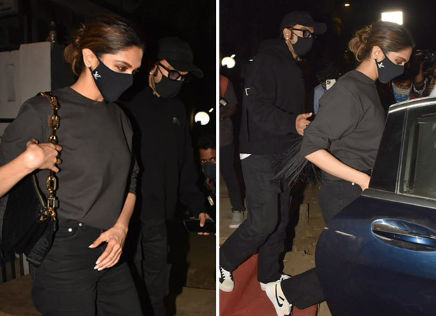 Ranveer Singh and Deepika Padukone set couple goals twinning in black during their dinner date