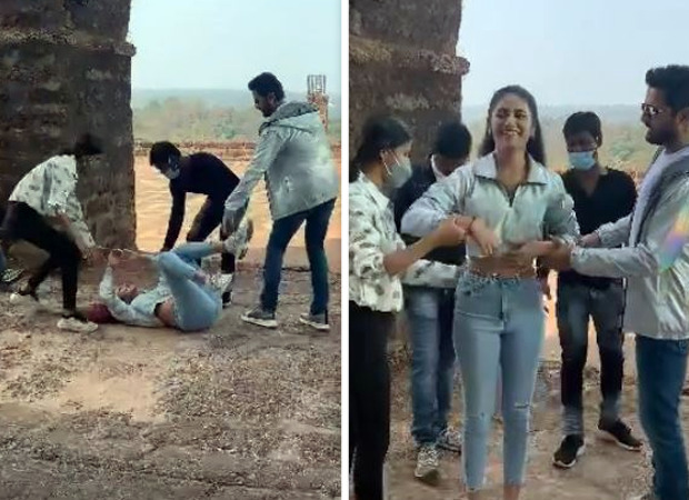 Priya Prakash Varrier has a nasty fall as she shoots a romantic song with Nithiin; watch