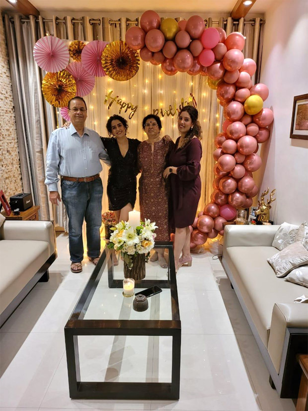 Sanya Malhotra celebrated her 29th birthday with family and close friends in Delhi