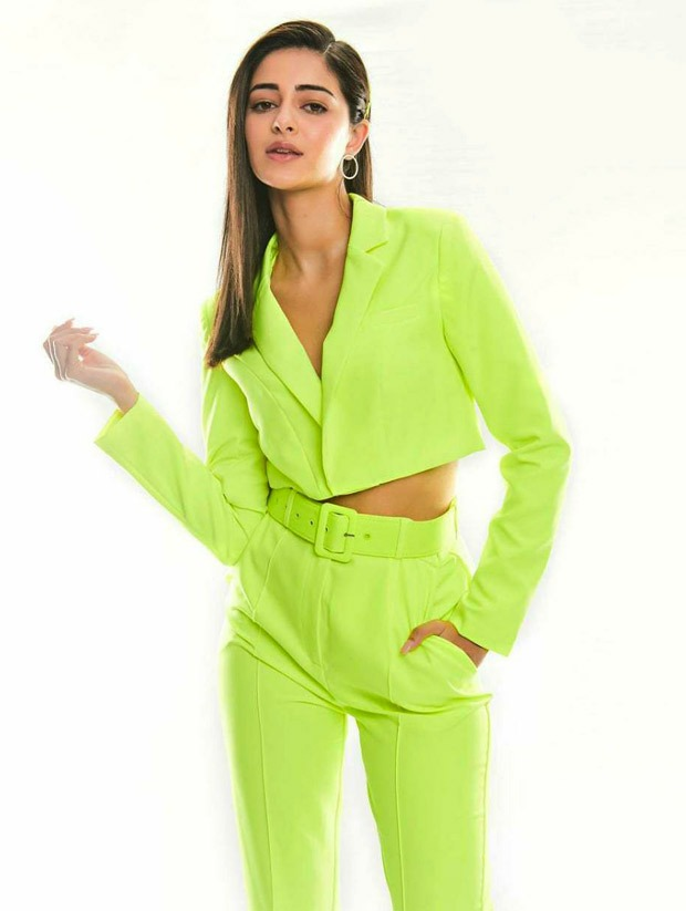 5 ways Ananya Panday shows you how to ace neon green pop hues