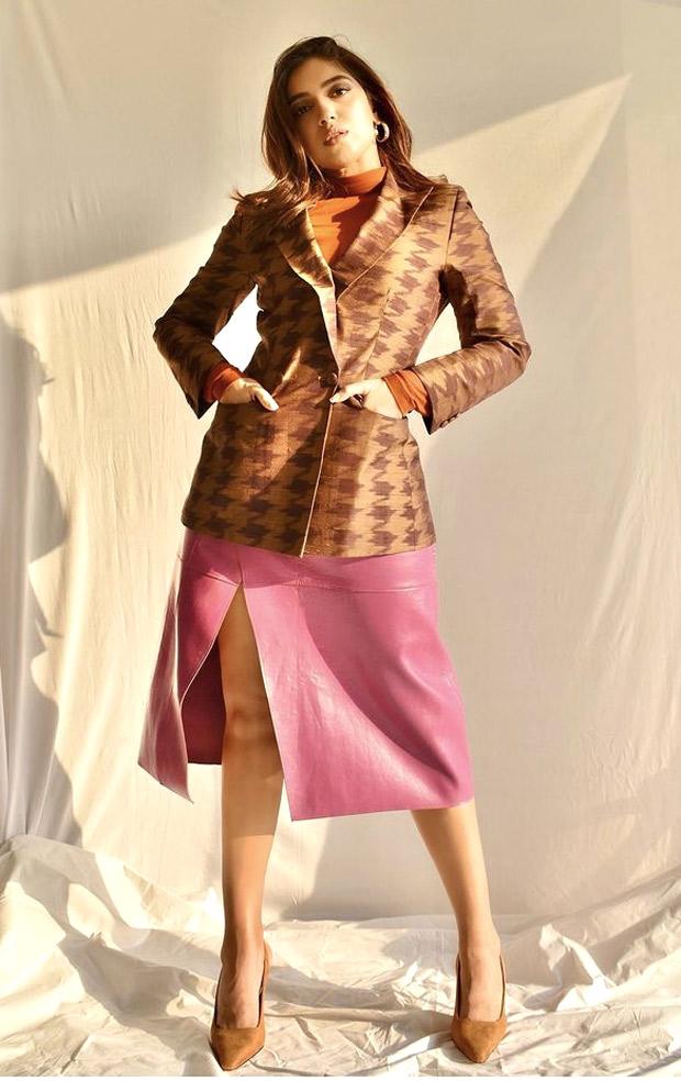 Bhumi Pednekar's skirt and blazer look is anyone who loves pop hues