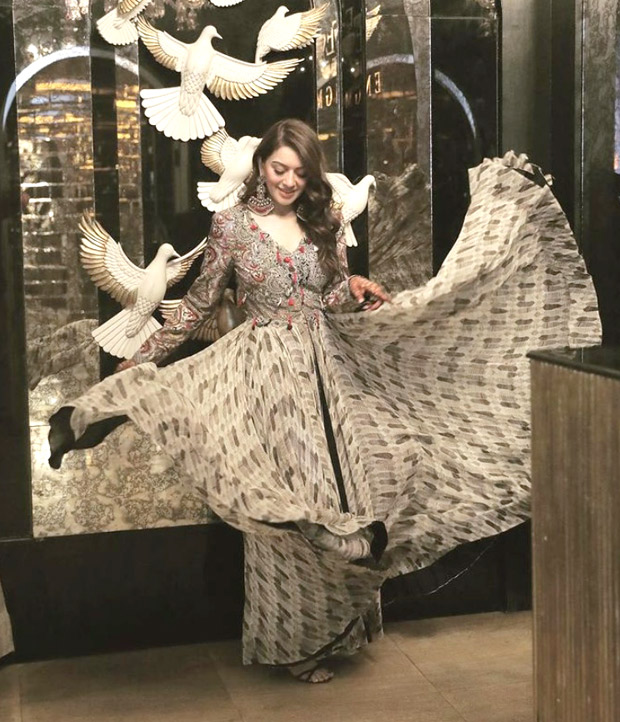 Hansika Motwani makes a statement in boho printed dress for her brother's lavish wedding in Jaipur
