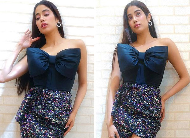 Janhvi Kapoor's sequin embellished skirt and bow top will make you stand out at every party