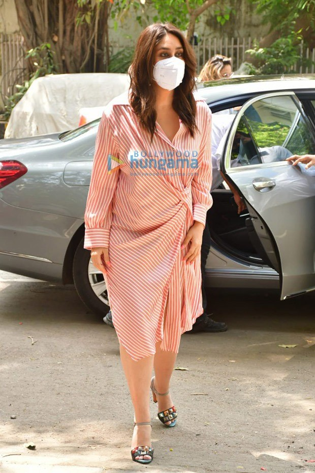 Kareena Kapoor Khan steps out in striped shirt dress which is an affordable piece you would want in your summer wardrobe