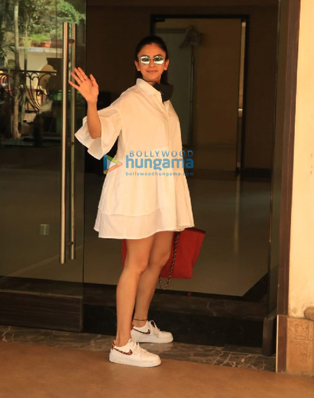 Rakul Preet Singh keeps is easy breezy with white shirt dress, carries red Chanel bag worth Rs. 2.6 lakhs
