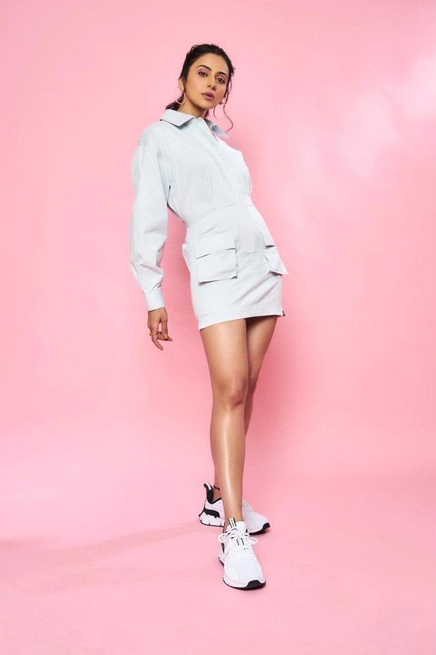 Rakul Preet Singh opts for white athleisure mini dress Rs. 14,500 for Tennis Premier League
