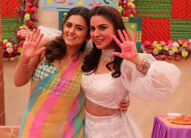 Ridhi Dogra of The Married Woman graces the sets of Kundali Bhagya and Kumkum Bhagya