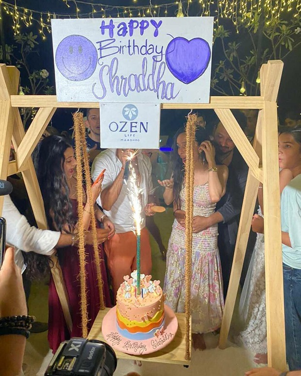 Rohan Shrestha hugs Shraddha Kapoor as she rings in her birthday in Maldives, watch video