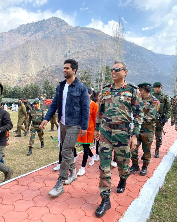 Vicky Kaushal shares glimpses of his day with Indian Army and locals at Uri Base Camp