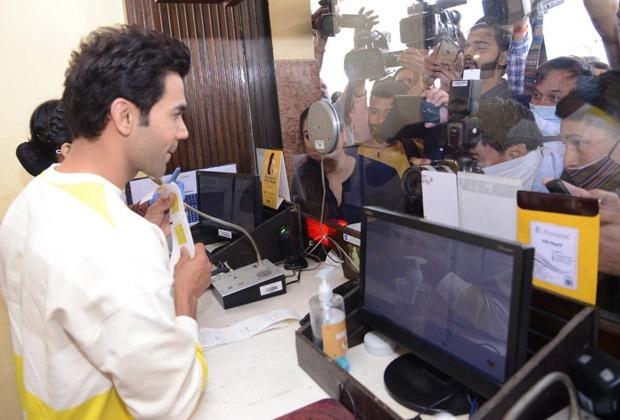 PICS: Rajkummar Rao sells tickets at a theatre in Delhi as Roohi releases today