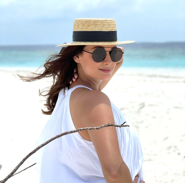 Dia Mirza vacations with her husband Vaibhav Rekhi in Maldives; strikes a pose with step-daughter