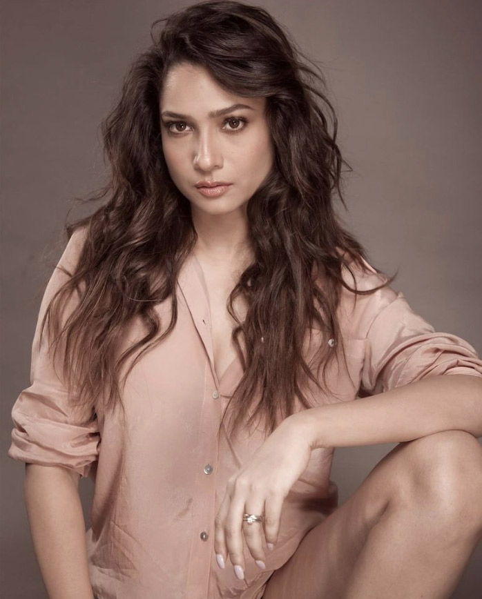 Ankita Lokhande's soft glam and casual peach shirt dress sets the perfect tone for summer