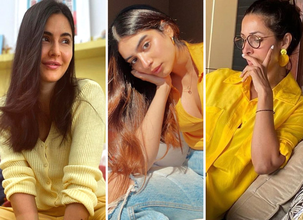 COLOUR OF THE WEEK – YELLOW Katrina Kaif, Khushi Kapoor, Malaika Arora slay in comfy wear
