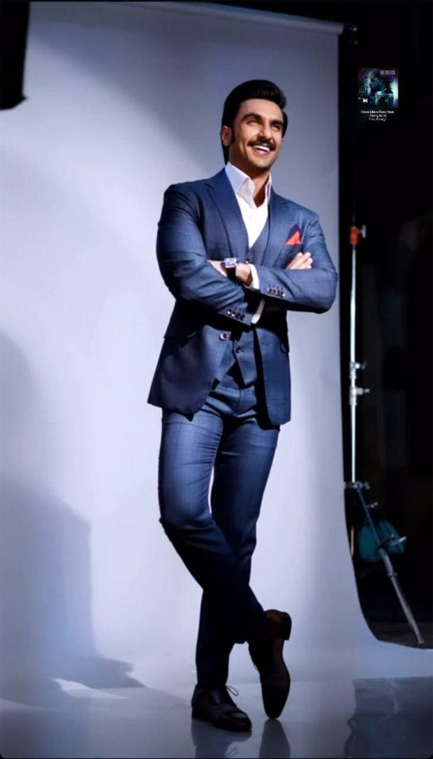Ranveer Singh cleans up nice in sharp blue suit