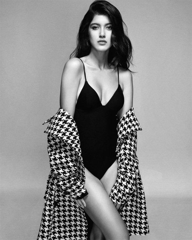 Shanaya Kapoor sets the internet on fire in black bodysuit andjacquard print trenchcoat