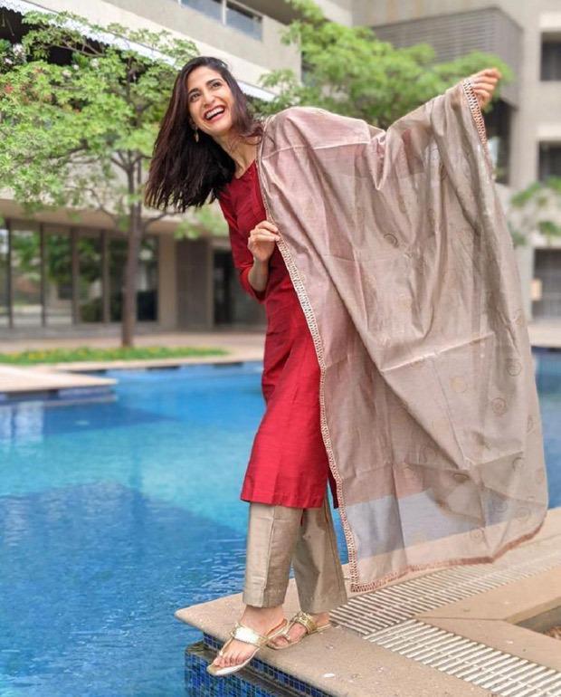 Aahana Kumra keeps it elegant in red salwar suit