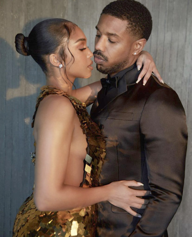 At Without Remorse premiere, Michael B. Jordan keeps it sharp in Prada suit, Lori Harvey stuns in sequin backless gown