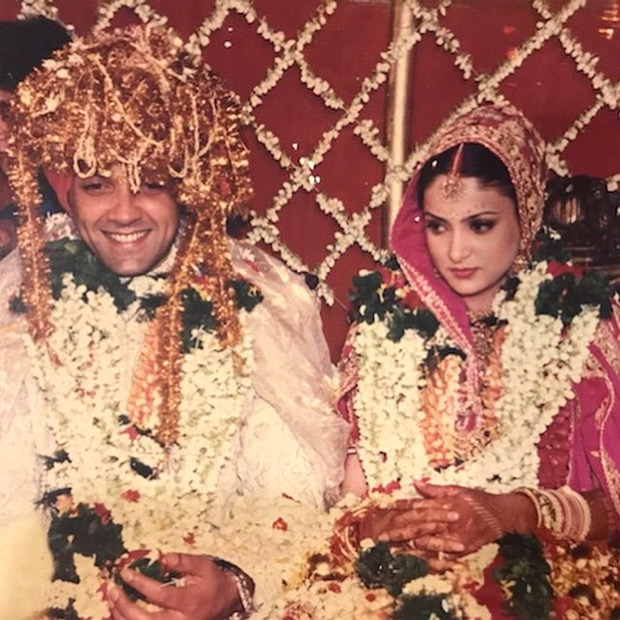 Bobby Deol wishes wife Tanya on their 25th anniversary with lovely throwback pictures
