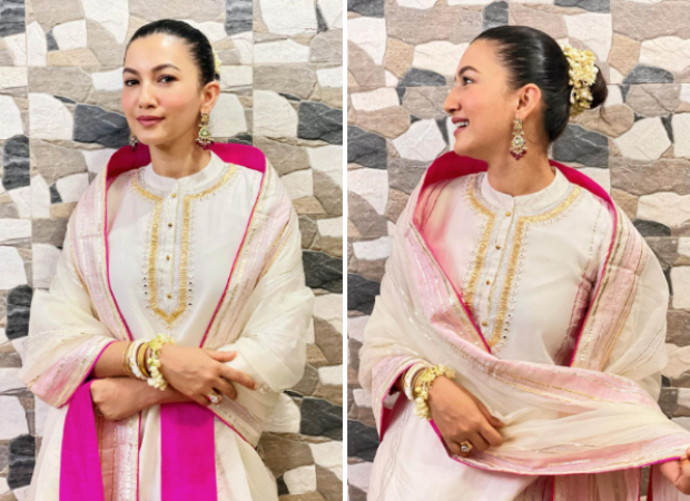 Gauahar Khan finally feels like a new bride in ethereal white and pink outfit