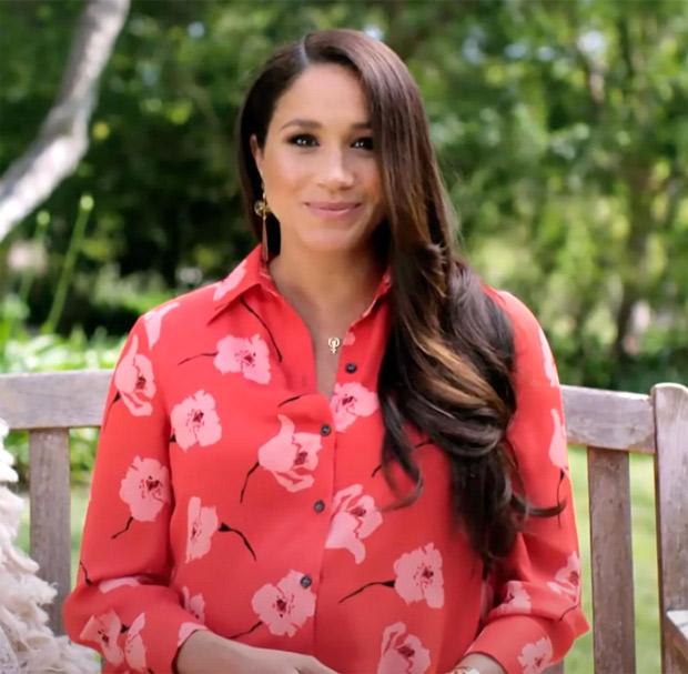 Meghan Markle keeps it bright in poppy print Carolina Herrera shirt dress worth Rs. 1.2 lakhs
