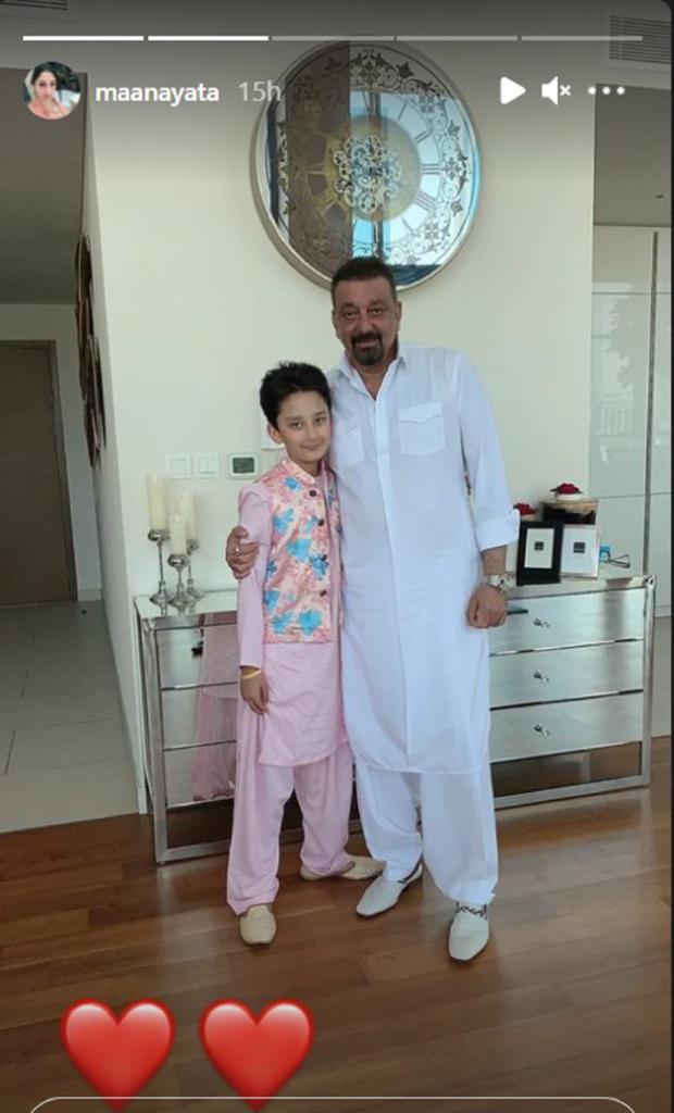 Sanjay Dutt and Maanayata Dutt celebrated Eid with their twins in Dubai