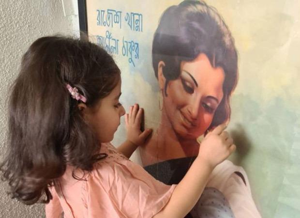 Picture of Inaaya Kemmu staring at grandmother Sharmila Tagore's movie poster goes viral