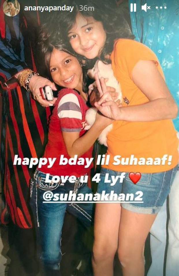 On Suhana Khan's birthday, Shanaya Kapoor shares a video of them dancing to 'Yeh Mera Dil' from Don along with Ananya Panday