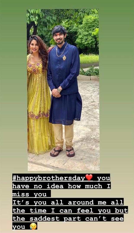 Nikki Tamboli wishes her late brother Jatin Tamboli Happy Brother's Day on social media