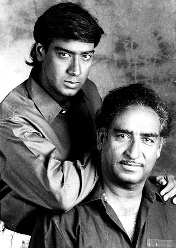 Ajay Devgn shares throwback picture remembering his late father Veeru Devgan on his birth anniversary