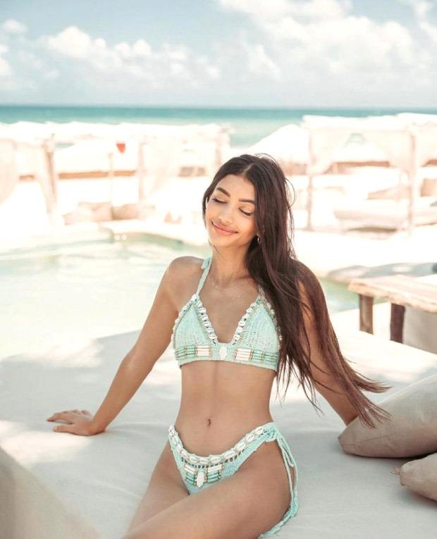 Alanna Panday sets the temperature soaring in crocket bikini during Mexico vacation