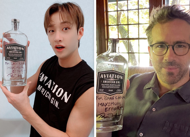 Stray Kids' Bang Chan receives autographed Aviation Gin from Ryan Reynolds