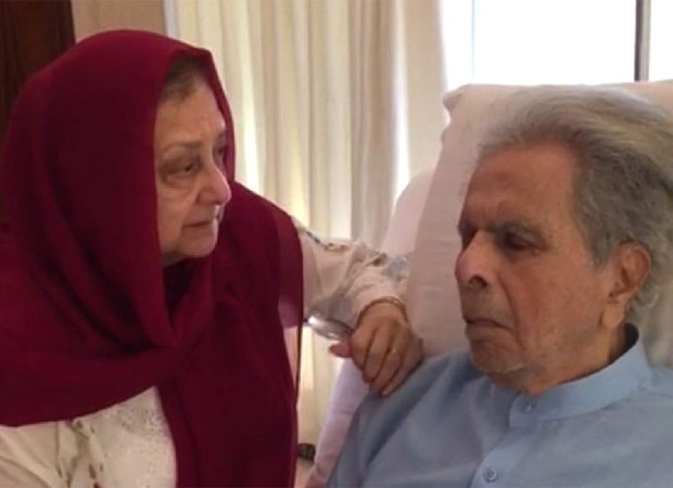Dilip Kumar shares his picture after being diagnosed with bilateral pleural effusion; Saira Banu issues a statement