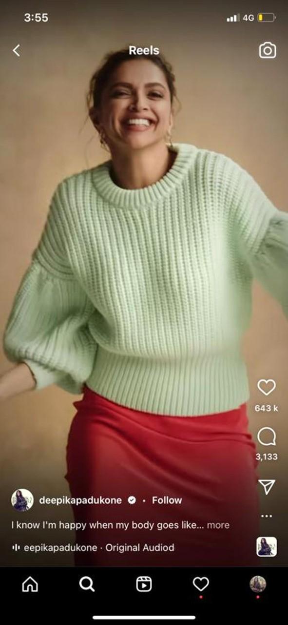 Deepika Padukone looks glorious in mint sweater and tangerine midi skirt