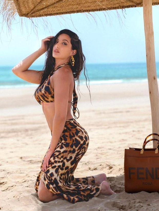 Nora Fatehi is a perfect smoke-storm in a leopard printed co-ord set