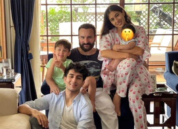 Sara Ali Khan poses with her step-brother Jeh Ali Khan as she celebrates Eid with her family