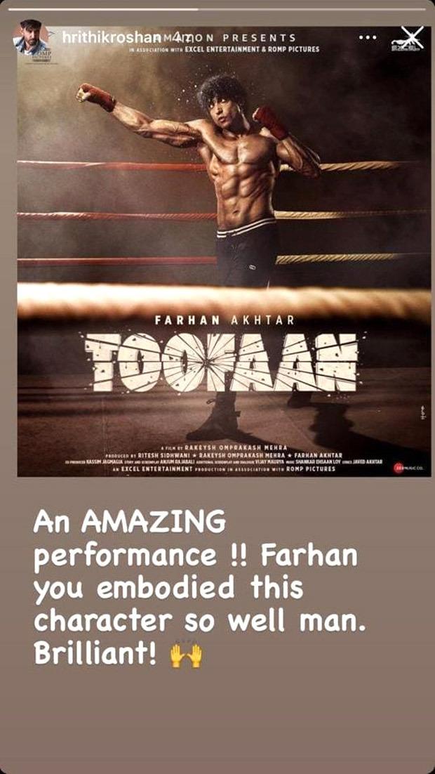 Farhan Akhtar's Toofaan gets a shoutout from Harbhajan Singh and Hrithik Roshan