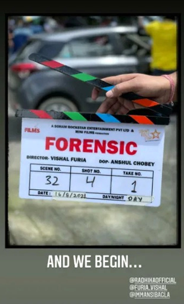 Vikrant Massey and Radhika Apte began filming for their investigative thriller Forensic in Mussoorie, Uttarakhand
