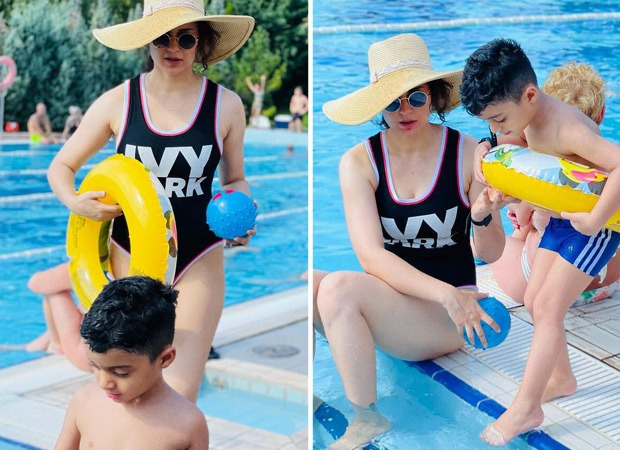 Kangana Ranaut enjoys a waterpark adventure with her nephew; shares pictures