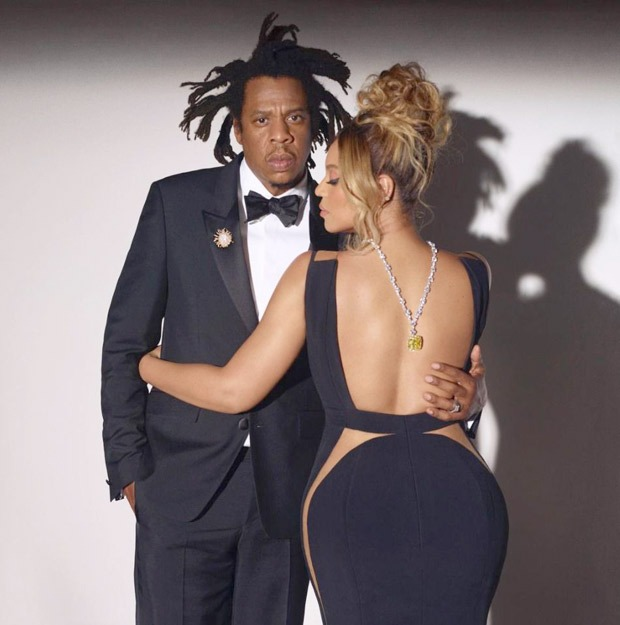 Beyonce becomes the first black woman to wear Tiffany diamonds as she poses for the new campaign with Jay Z