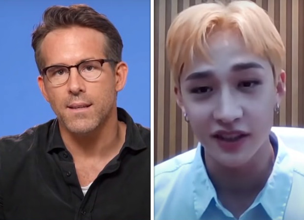 """""""I think all the Stray Kids are amazing"""" - says Ryan Reynolds to Bang Chan during Free Guy promotions"""