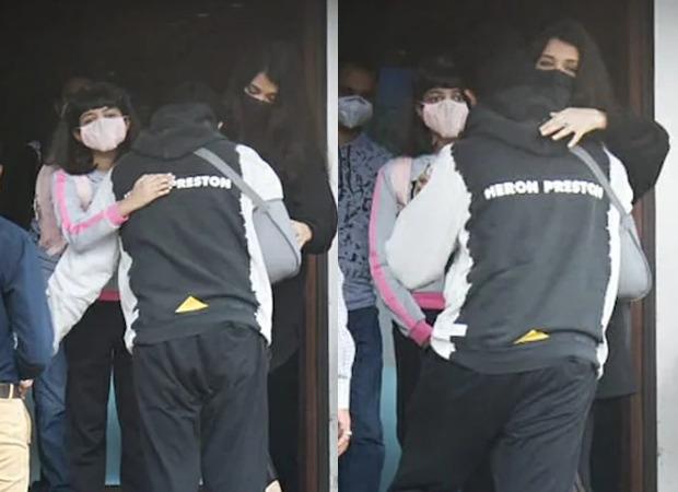 Injured Abhishek Bachchan drops Aishwarya Rai Bachchan and Aaradhya Bachchan at airport as the duo leaves for Ponniyin Selvan shoot