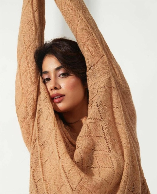 Janhvi Kapoor keeps it comfy in affordable rust knit top worth 4k