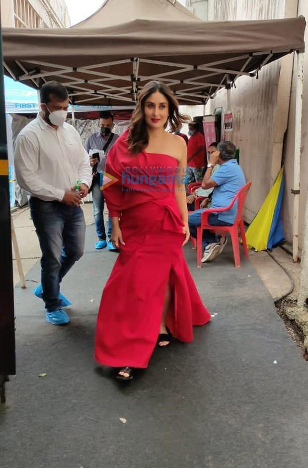 Kareena Kapoor Khan looks smoking hot in a fiery red off shoulder gown